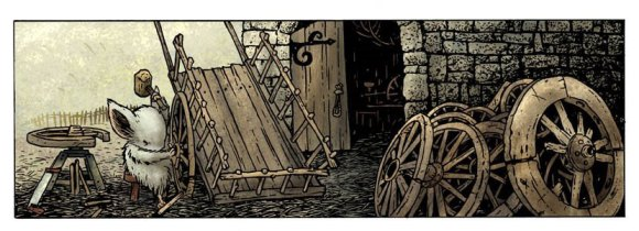 Panel from Mouse Guard by David Petersen